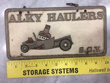 Aluminum Car Club Plaque ALKY HAULERS SGV San Gabriel Vally So. California 60's