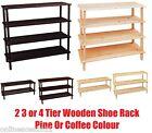Wooden Shoe Rack Stand Standing Cabinet Storage Hallway Organizer Shelf Holder