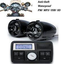 Motorcycle Motorbike Audio System USB SD FM Radio Stereo Amplifier Speaker MP3