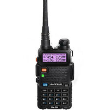 Baofeng Black UV-5R VHF/UHF MHz Dual-Band Ham Walkie Talkies Two-way EU Adapter