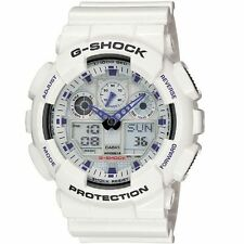 WEEKEND DEAL ONLY NEW GA100A-7A WHITE ANA-DIGI BIG CASE RESIN STRAP MENS WATCH