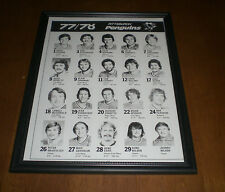 1977-78 PITTSBURGH PENGUINS FRAMED TEAM ROSTER