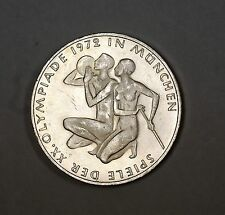 1972 German 10 Marks Silver Coin Olympic Games Commemorative Munich Couple UNC