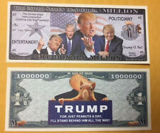 DONALD TRUMP NOVELTY MILLLION DOLLAR BILL THE DONALD FAKE BILL NEW LOT OF 10