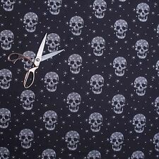 Gothic Skull Pattern Damask Curtain Fabric for Upholstery