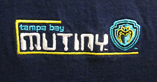 TAMPA BAY MUTINY med T shirt MLS soccer Florida defunct embroidery tee OG
