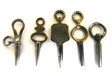(5) -VINTAGE ROUND OVAL RING POCKET WATCH KEY WINDER FOB PENDANT