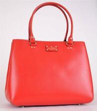 NEW KATE SPADE XL FALLON WELLESLEY GARNET RED LEATHER BUSINESS PURSE BAG TOTE