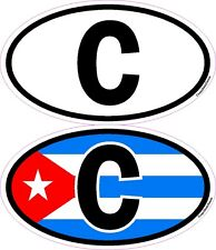 4 National Letters Cuba Sticker Car Bike Helmet Mobile Laptop
