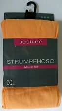 Desirée 60 DEN Gr. L/42-46 apricot Mikrofaser Strumpfhose NEU blickdicht Desiree