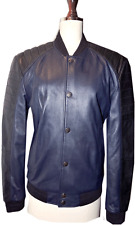 $1450 VERSACE Collection Quilted Leather Moto Jacket Sz.50 Lambskin Bomber SALE