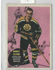1961- 62 TOPPS HOCKEY #14 MURRAY OLIVER  NICE CARD