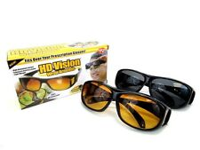 HD Vision Sunglasses Wraparound Combo Pack Night Vision Glasses ~AS SEEN ON TV