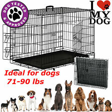 Extra Large Dog Crate Kennel Pet Cage House Metal Playpen Tray XXL XL Size
