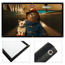 Portable 72'' inch Projector Screen Home Cinema Theater Projection Screen 16:9