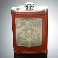 9 oz Stainless steel Package Leather Portable Whiskey Alcohol Flasks Portable