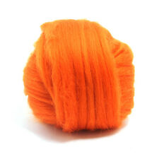 100g DYED MERINO WOOL TOP PUMPKIN ORANGE DREADS 64's SPINNING FELTING ROVING