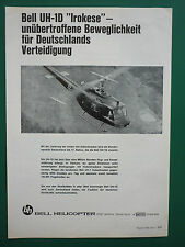 11/1966 PUB BELL HELICOPTER TEXTRON TWIN TURBINE BELL UH-1D IROKESE GERMAN AD