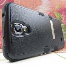Black BLK Tuff Impact Hard+Rubber Hybrid Cover Case for Samsung Galaxy Mega 6.3