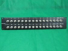 Canare 322U-BJRU 75 Ohm 32 Port SDI BNC Female Bulkhead Patch Panel.