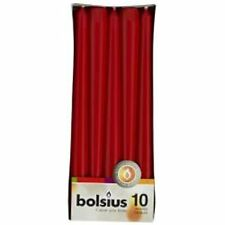 BOLSIUS 50 RED NON-DRIP TAPERED DINNER CANDLES, 7.5Hr BURN TIME! BULY BUY!