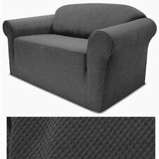 STRETCH FORM FIT - 3 Pcs Slipcovers Set,Couch/Sofa+Loveseat+Chair Covers - GRAY