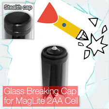 Stealthy Glass Breaking End Tail Cap for Mini MagLite 2AA Cell Torch flashlight