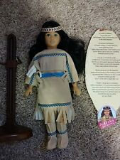 """Unimax Dolls Of All Nations 12"""" NATIVE AMERICAN '95, info, doll stand lot Target"""