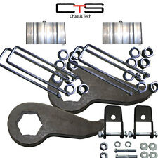 "Lift Kit Chevy Torsion Keyway-19 Shock Extend 2"" Blocks 2011-2 8 Lug & HD Trucks"