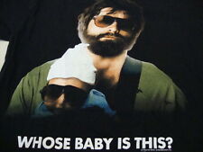 The Hangover Funny Humor Who's Baby is this Zach Galifianakis Black T Shirt L