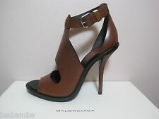 Balenciaga High Ankle Strap Cut Out Sandals Booties Pumps $845 41 11