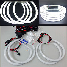 4 X Soft-light SMD LED ANGEL EYES HALO RING Lamps for BMW E36 E38 E46 E39-white