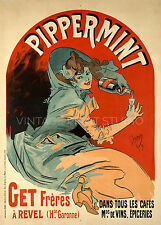 Pippermint, 1899 Vintage Wine Advertising Poster Giclee Canvas Print 20X28