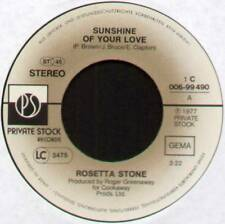 "[ROGER GREENAWAY] ROSETTA STONE ~ SUNSHINE OF YOUR LOVE ~ 1977 GERMAN 7"" SINGLE"