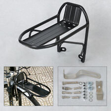 Black Cycling Bike Bicycle Aluminum Alloy Front Rack Pannier Bag Bracket Quality