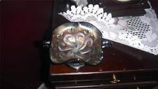CARNIVAL GLASS DOUBLE HANDLED DISH Dugan/Diamond, pattern question marks early