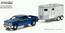 Greenlight hitch tow series 5 2015 Chevrolet Silverado 1500 with horse trailer