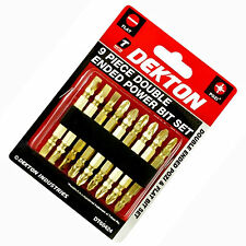 9 Double Ended Screwdriver Bit Set Assorted PZ Pozi & Slotted Flat Power Bits
