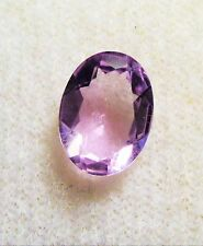 8 x 6 mm OVAL SHAPED FACETED MEDIUM PURPLE AMETHYST GEMSTONE BRAZIL