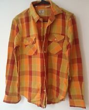 New Men's XS LEVIS LVC AUTHENTIC WESTERN WEAR SHORTHORN SHIRT $198 ITALY orange