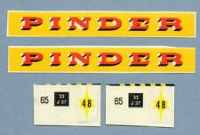 "DINKY TOYS 881 : GMC PINDER autocollant camion / stickers truck "" pinder """