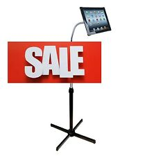 Adjustable Gooseneck Floor Stand iPad Podium Holder Tablet Holder Handsfree