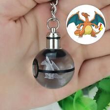 Pokemon Charizard 3D LED Palla di Cristallo Luce Notturna Portachiavi Regalo