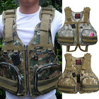 Outdoor Swimwear Boat Buoyancy Aid Sailing Kayak Fishing Life Jacket Camouflage