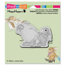 HOUSE MOUSE RUBBER STAMPS CLING HAPPY HOPPERS EASTER BUNNY STAMP