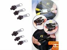 Easy Universal Zip Repair / Replacement Kit. 3 Sizes, 6 Pieces zipper, Fixer #3