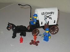 Lego Custom WESTERN AMERICAN CIVIL WAR UNION WAGON SET w/ 2 Soldiers Minifigs