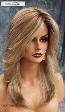 Mackenzie Lace Front Part Designer Wig ELEGANT SHARP ROOTED BLONDE ✮ RH1488RT8 ✮