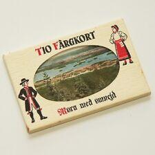 MORA, SWEDEN- old souvenir card set / 10 x postcard style colour images VGC