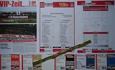 9 items VIP Tickets Band Aufstellung 2013/14 Union Berlin - Kaiserslautern
